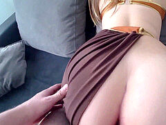 princess Leia with ample mouth-watering ass fucks with a guy