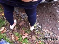 Big cocked dude fucks nice teen outdoors pov