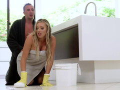 The Perfect Maid 3 Samantha Saint fucking til draining boss's balls dry