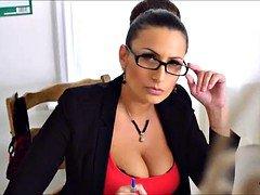 MILF Teacher in Stockings and Glasses