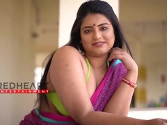 Indian cute big-bosomed Cutie in Saree