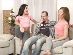DADDY4K. Mom's a couple of daughters getting naughty in her trait