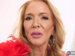 Busty mature granny Sierra Fontaine uses anal toys - masturbation