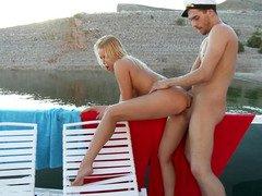 Boating on the lake and fucking a hot bikini girl