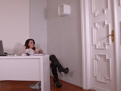 Fetish Office Hours - Submissive Milf Fucked With Strap-On Cock