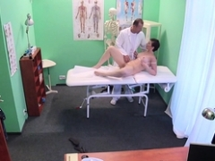 Doctor creampied eager mom snatch in hospital