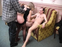 Double drilling fully hardcore 3some with blonde