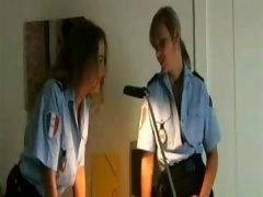 Aroused Policewomen Get Insane in Locker Room