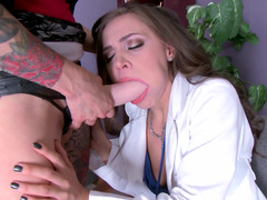 Anna Bells Peaks making love her sexy lesbian employee at work