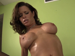 A cougar that craves phallus is getting her shaved snatch filled