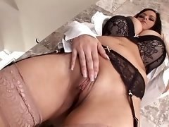 hot big-breasted chick gets assfucked