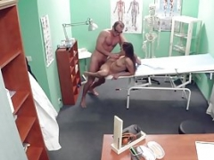 Euro doctor exams patients pussy with tongue
