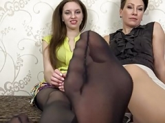 Pantyhose feet and plus soles
