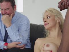 A black guy penetrates a hot milf in a cuckold episode today