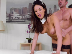 Breasty maid Anissa Kate fucks the man of the house