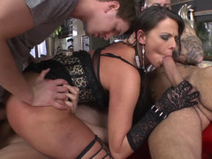 A ideal servant floozy is getting fucked by numerous sizeable men