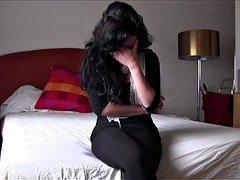 PUTA LOCURA Bigtitted Amateur Latina gal picked up on