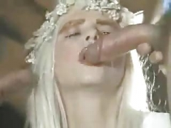 Full Cicciolina dick sucking and also facial compilation