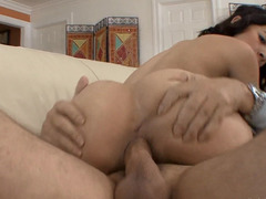 Older stud has sex with his attractive concubine