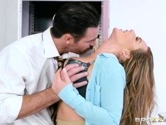 Brazzers - Hot Big Jug Office Slut