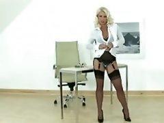 Hot Blonde Sexually available mom gives fella a handjob
