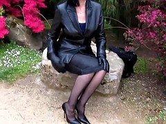 Leather old on stilettos