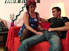 Punky pierced granny loves to suck & have an intercourse