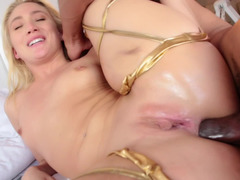 Ravishing blonde gets rammed in ass by BBC