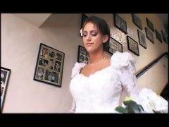 bride  amp, a hottesttie share a big flag pole