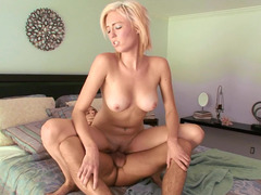 Hot aged female is on top of her son in law in the bedroom