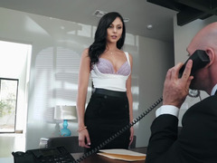 Hot young slut gets an internship with her wet pussy