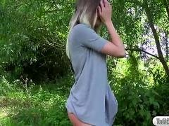 Boobalicious babe Tamara Grace gets fucked in the woods