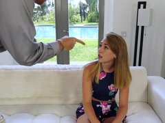 Blonde is getting some punishment from her stepdad in this clip
