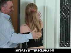 MyBabySittersClub - Hot Excited Babysitter Seduces More seasoned Boss