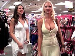 Molly & Misty shopping and also teasing