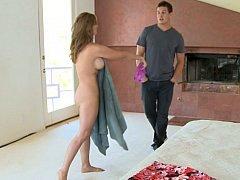 Walking into his friend's mom's bedroom