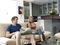 The most cute broad with fine pair of natural boobs is being banged by her excited strapping stepbrother