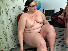 Large belly chubby teacher gets doggy-fucked