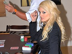 I won her blonde sexy vag at poker