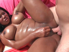 Jessica Dawn giving head white ramrod & getting nailed by the pool