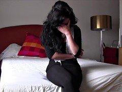 PUTA LOCURA Big-breasted Non-professional Latina babe picked up on