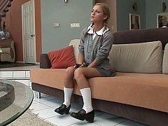 A nice schoolgirl gets hardcored