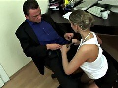 Secretary Serves Her Aroused Boss