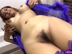 18-19 year old Post-Op Transsexual Aum Fucked Bareback