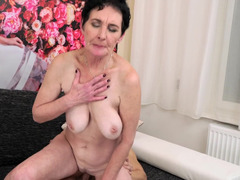 A granny with loose aged boobs is getting ravaged by a immature dude
