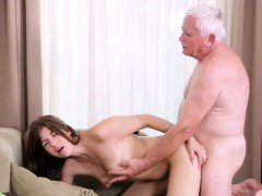Adorable youthful cutie pie rides grown-up boner of a willing guy