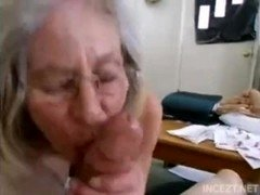 Granny is blow off Grandsons dick.