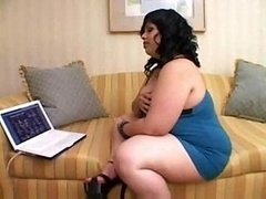 Heavyweight Girl Watches Porno And moreover Finge...