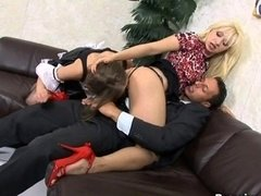 Home group orgy with lascivious maid