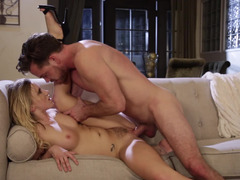 Beauty satiates her lust for big cock with great sex